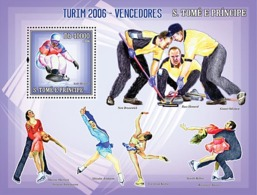 S. TOME & PRINCIPE 2006 - Winners Of Turin 2006 (figure Skating,snowboarding, Curling) S/s - 325,  Mi 2738/BL.535 - Sao Tome Et Principe