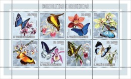 S. TOME & PRINCIPE 2006 - Butterflies & Orchids 4v - YT 2030-2033,  Mi 2754-2757 - Sao Tome And Principe
