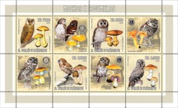 S. TOME & PRINCIPE 2006 - Owls & Mushrooms (& Rotary/Lions) 4v - YT 2034-2037,  Mi 2779-2782 - Sao Tome And Principe