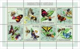 S. TOME & PRINCIPE 2006 - Butterflies & Bees 4v - YT 2038-2041,  Mi 2759-2762 - São Tomé Und Príncipe
