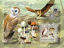 S. TOME & PRINCIPE 2006 - Owls & Mushrooms (& Rotary/Lions) S/s - YT 238,  Mi 2783/BL.544 - Sao Tome And Principe