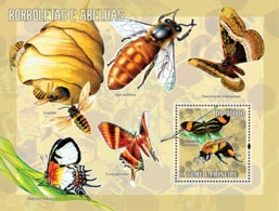 S. TOME & PRINCIPE 2006 - Butterflies & Bees S/s - YT 329,  Mi 2763/BL.540 - Sao Tome And Principe