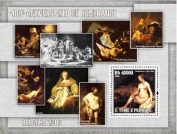 S. TOME & PRINCIPE 2006 - Paintings Of Rembrandt (400th Anniv.) S/s - YT 336,  Mi 2846/BL.551 - Sao Tome Et Principe