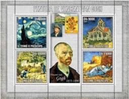 S. TOME & PRINCIPE 2006 - Paintings Of Van Gogh 4v - YT 2074-2077,  Mi 2820-2823 - Sao Tomé Y Príncipe