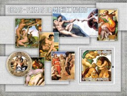S. TOME & PRINCIPE 2006 - Masterpieces Of Michelangelo S/s - YT 343,  Mi 2844/BL.549 - Sao Tome Et Principe