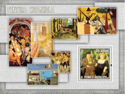 S. TOME & PRINCIPE 2006 - Spanish Paintings S/s - YT 345,  Mi 2853/BL.558 - São Tomé Und Príncipe