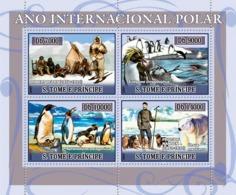 S. TOME & PRINCIPE 2007 - Int. Polar Year (people, Penguins, Dogs, Bear) 4v - YT 2250-2983,  Mi 2980-2983 - Sao Tomé E Principe