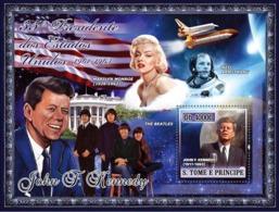 S. TOME & PRINCIPE 2007 - 35th American President- J. F. Kennedy, Monroe, Beatles, Space S/s - YT 381,  Mi 2959/BL584 - São Tomé Und Príncipe