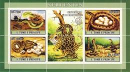 S. TOME & PRINCIPE 2007 - Snakes 4v - YT 2194-2197,  Mi 3024-3027 - Sao Tomé Y Príncipe