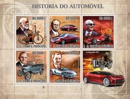S. TOME & PRINCIPE 2007 - History Of Auto 5v - YT 2275-2279, Mi 3169-3173 - Sao Tomé E Principe