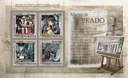 S. TOME & PRINCIPE 2007 - Museum Prado - P. Picasso 4v - YT 2342-2345, Mi 3154-3157 - Sao Tomé E Principe