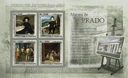 S. TOME & PRINCIPE 2007 - Museum Prado - D. Velasquez 4v - YT 2350-2353, Mi 3142-3145 - Sao Tome And Principe