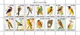 S. TOME & PRINCIPE 2007 - Birds Of Sao Tome 14v - YT 2417-2430, Mi 3209-3222 - Sao Tome Et Principe
