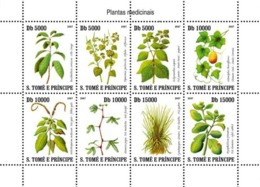 S. TOME & PRINCIPE 2007 - Medic Plants Of Sao Tome 8v - YT 2441-2448, Mi 3191-3198 - Sao Tomé Y Príncipe