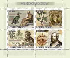 S. TOME & PRINCIPE 2008 - Naturalists I 4v - YT 2453-2456, Mi 3389-3392 - Sao Tome And Principe