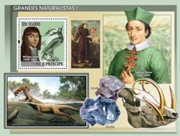 S. TOME & PRINCIPE 2008 - Naturalists I S/s - YT 412, Mi 3394/BL646 - Sao Tome And Principe