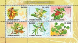 S. TOME & PRINCIPE 2008 - Medical Plants 6v - YT 2465-2470, Mi 3364-3369 - Sao Tome And Principe