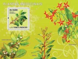 S. TOME & PRINCIPE 2008 - Medical Plants S/s - YT 415, Mi 3370/BL642 - Sao Tome And Principe
