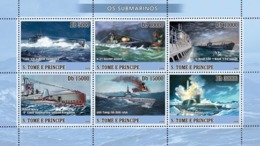 S. TOME & PRINCIPE 2008 - Submarines 6v- YT 2471-2476, Mi 3371-3376 - São Tomé Und Príncipe