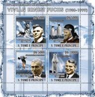 S. TOME & PRINCIPE 2008 - Vivian Fuchs (Antarctic, Bird, Dogs, Polar Bear, Penguins) 4v - YT 2490-2493, Mi 3326-3329 - Sao Tome Et Principe