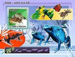 S. TOME & PRINCIPE 2008 - Frogs S/s - YT 422, Mi 3354/BL640 - Sao Tome Et Principe