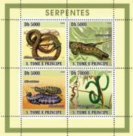 S. TOME & PRINCIPE 2008 - Snakes 4v - YT 2514-2517, Mi 3360-3363 - Sao Tomé Y Príncipe