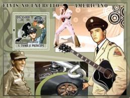 S. TOME & PRINCIPE 2008 - Elvis Presley Joins Army S/s - YT 430, Mi 3401/BL647 - Sao Tome Et Principe