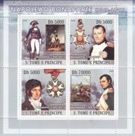 S. TOME & PRINCIPE 2008 - Napoleon 4v - YT 2562-2565, Mi 3262-3265 - Sao Tomé Y Príncipe