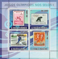 S. TOME & PRINCIPE 2008 - Olympic Games On Stamps I 4v - YT 2624-2627, Mi 3460-3463 - Sao Tomé E Principe