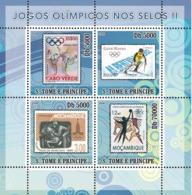 S. TOME & PRINCIPE 2008 - Olympic Games On Stamps II 4v - YT 2628-26317, Mi 3464-3467 - Sao Tome Et Principe