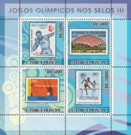 S. TOME & PRINCIPE 2008 - Olympic Games On Stamps III 4v - YT 2632-2635, Mi 3468-3471 - Sao Tome Et Principe