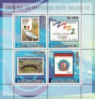 S. TOME & PRINCIPE 2008 - Olympic Games On Stamps IV 4v - YT 2636-2639, Mi 3472-3475 - Sao Tomé E Principe