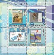 S. TOME & PRINCIPE 2008 - Olympic Games On Stamps VII 4v - YT 2648-2651 Mi 3484-3487 - Sao Tome Et Principe