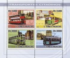 S. TOME & PRINCIPE 2008 - City Transport - Trams 4v - YT 3571-3574, Mi 2780-2783 - Sao Tome En Principe