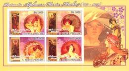S. TOME & PRINCIPE 2008 - Paintings Of Alphonse Maria Mucha (1860-1939) 4v - YT 3698-3701, Mi 2852-2855 - Sao Tomé Y Príncipe