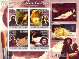 S. TOME & PRINCIPE 2008 - Paintings Of Fustave Courbet (1819-1877) 4v - YT 3719-3722, Mi 2896-2899 - Sao Tomé E Principe