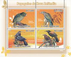 S. TOME & PRINCIPE 2009 - Parrots Of New Zealand 4v - YT 2992-2995, Mi 3889-3892 - Sao Tomé Y Príncipe