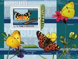 S. TOME & PRINCIPE 2009 - Butterflies (Euplagia Guadripunctaria) S/s - YT 469, Mi 3855/BL.676 - São Tomé Und Príncipe