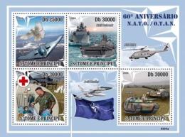S. TOME & PRINCIPE 2009 - 60 Years Of NATO (Red Cross, Bird, Army) - YT 3046-3049, Mi 4098-4101 - Sao Tome And Principe