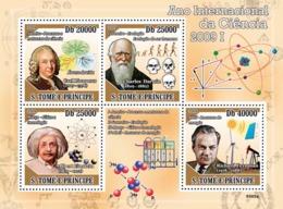S. TOME & PRINCIPE 2009 - 2009 Year Of Science I (C.Linnaeus, C.Darwin, A.Einstein) 4v - YT 3050-3053, Mi 4035-4038 - Sao Tome Et Principe