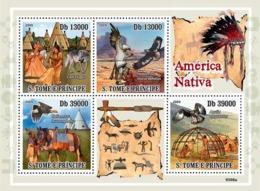 S. TOME & PRINCIPE 2009 - Native America, Indians (Bird Of Pray, Horse, Wolf) 4v - YT 3062-3065, Mi 4048-4051 - Sao Tome Et Principe