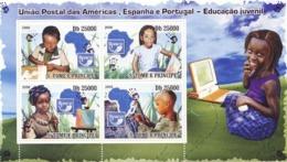S. TOME & PRINCIPE 2009 - Education Of Children - UPAEP 4v - YT 3110-3113, Mi 4025-4028 - Sao Tomé Y Príncipe
