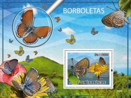 S. TOME & PRINCIPE 2009 - The Worlds Smallest Butterflies S/s - YT 484, Mi 4112/BL.700 - Sao Tome And Principe