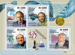S. TOME & PRINCIPE 2009 - Jewish Nobel Prize Laureate 4v - YT 3114-3117, Mi 4155-4158 - Sao Tome Et Principe