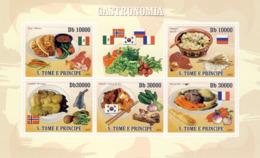 S. TOME & PRINCIPE 2009 - Gastronomic Of World - National Dishes 5v - YT 3187-3191, Mi 4180-4184 - Sao Tome And Principe