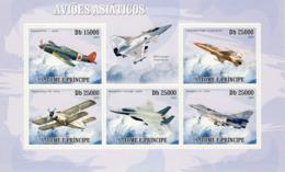 S. TOME & PRINCIPE 2009 - Asian Aircraft 5v - YT 3192-3196, Mi 4192-4196 - Sao Tomé Y Príncipe
