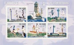 S. TOME & PRINCIPE 2009 - Lighthouses & Birds Of Sea 5v - YT 3197-3201, Mi 4210-4214 - Sao Tome And Principe