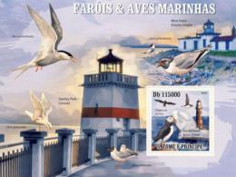 S. TOME & PRINCIPE 2009 - Lighthouses & Birds Of Sea S/s - YT 510, Mi 4215/BL.727 - Sao Tome And Principe