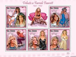 S. TOME & PRINCIPE 2009 - Famous Actress - Farrah Fawcett (1947-2009) 5v - YT 3318-3322, Mi 4288-4292 - São Tomé Und Príncipe