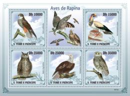 S. TOME & PRINCIPE 2009 - Birds Of Prey 5v - YT 3363-3367, Mi 4266-4270 - Sao Tome Et Principe